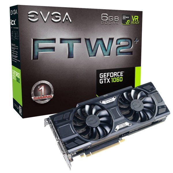 EVGA GeForce GTX 1060 6GB FTW2 (06G-P4-6766-KR)