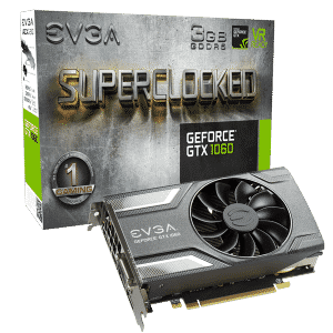 EVGA GeForce GTX 1060 SC 3GB GAMING (03G-P4-6162-KR)