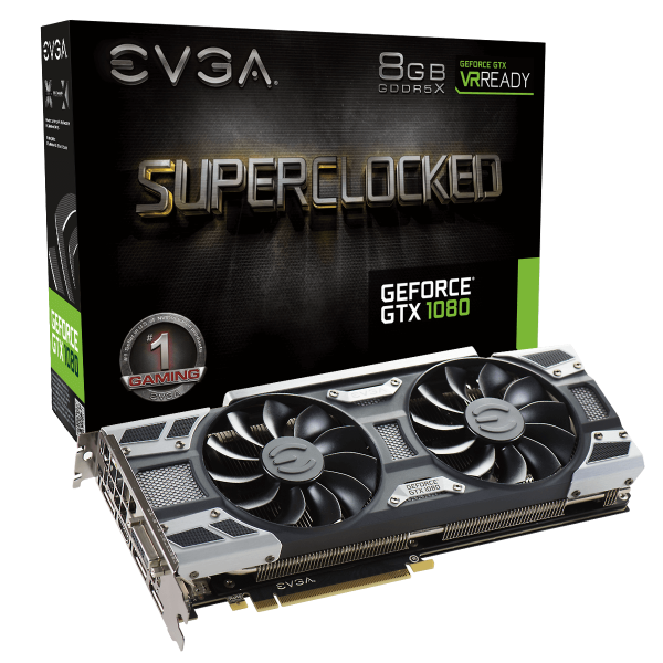 EVGA GeForce GTX 1080 SC GAMING ACX 3.0 8GB (08G-P4-6183-KR)