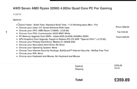 Cheapest Pre Built Gaming PC Specs