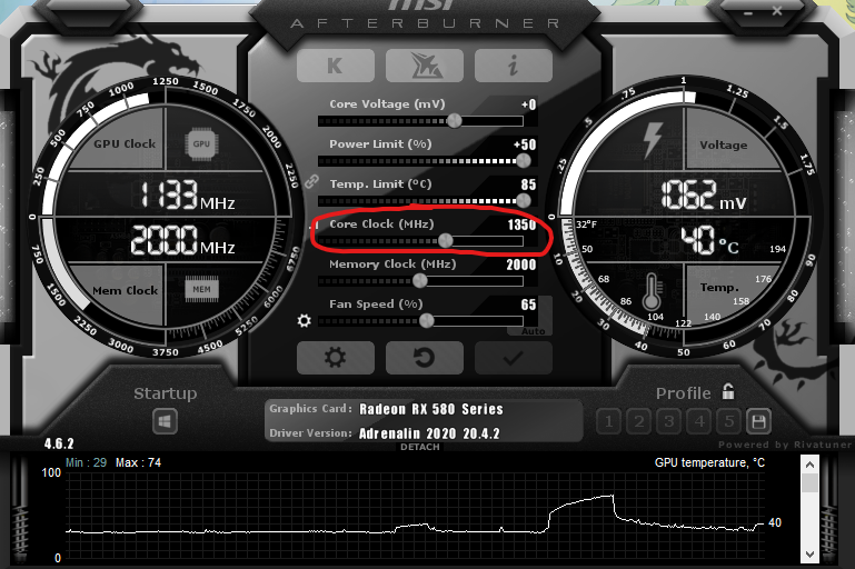 Core Clock Overclock Overclocking your GPU