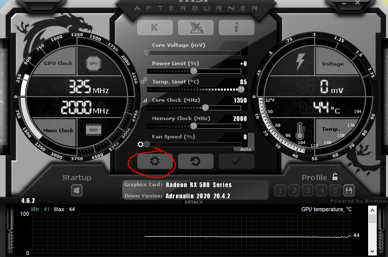 MSI Afterburner Settings