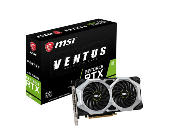 MSI GeForce RTX 2060 Ventus 6G Best Graphics Cards for Oculus Rift
