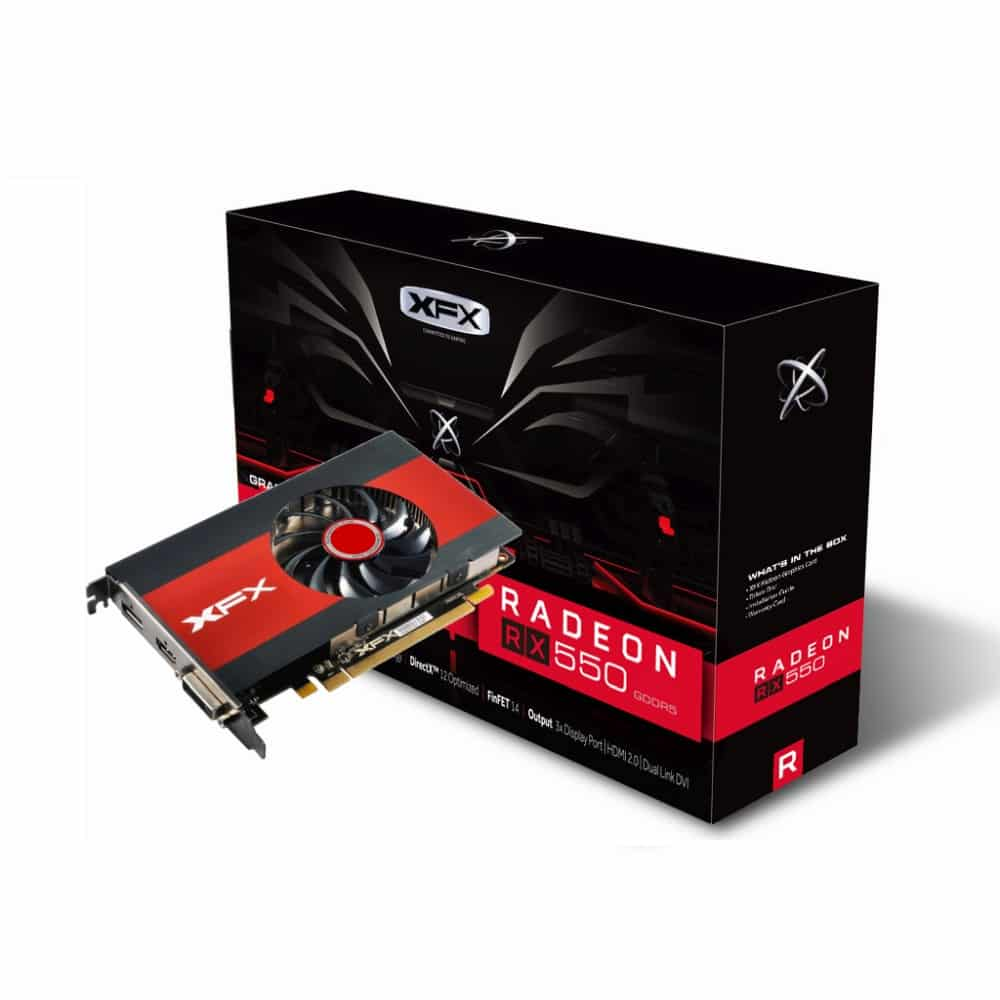 XFX Radeon RX 550 4GB Slim Single Slot Design
